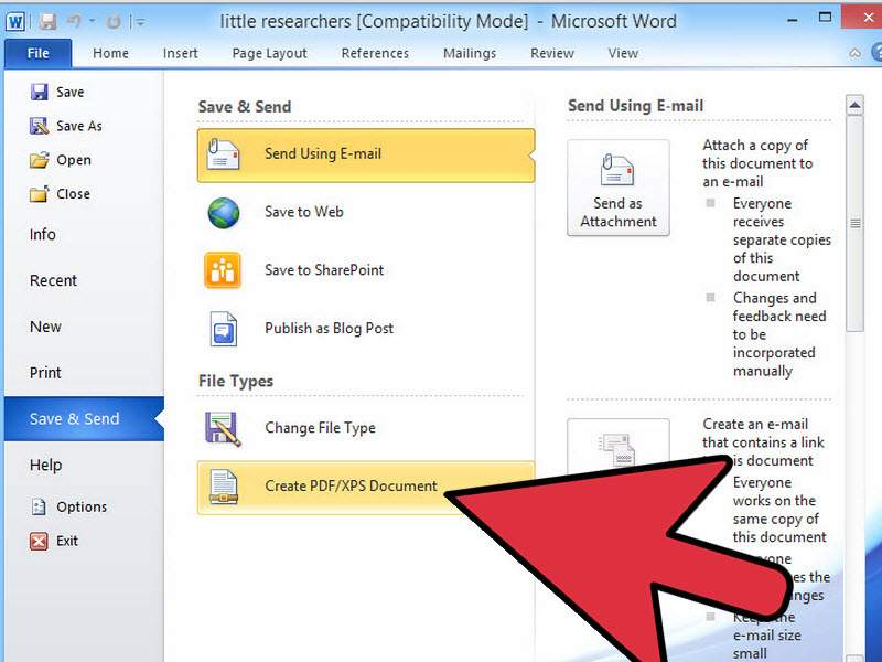 save word as pdf with word 01