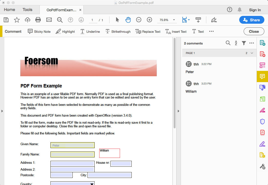 change font size in pdf form mac adobe 02